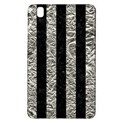 Stripes1 Black Marble & Silver Foil Samsung Galaxy Tab Pro 8 4 Hardshell Case by trendistuff