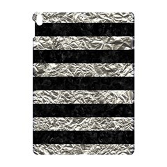 Stripes2 Black Marble & Silver Foil Apple Ipad Pro 10 5   Hardshell Case by trendistuff