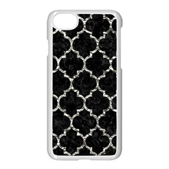 Tile1 Black Marble & Silver Foil (r) Apple Iphone 7 Seamless Case (white) by trendistuff