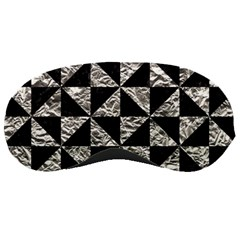 Triangle1 Black Marble & Silver Foil Sleeping Masks by trendistuff