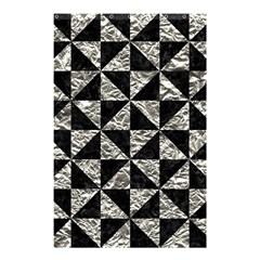 Triangle1 Black Marble & Silver Foil Shower Curtain 48  X 72  (small)  by trendistuff