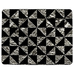 Triangle1 Black Marble & Silver Foil Jigsaw Puzzle Photo Stand (rectangular) by trendistuff