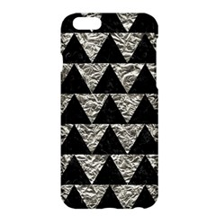 Triangle2 Black Marble & Silver Foil Apple Iphone 6 Plus/6s Plus Hardshell Case by trendistuff