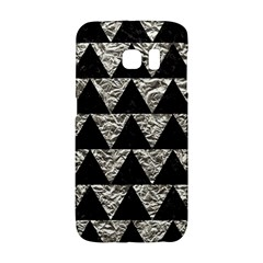 Triangle2 Black Marble & Silver Foil Galaxy S6 Edge by trendistuff
