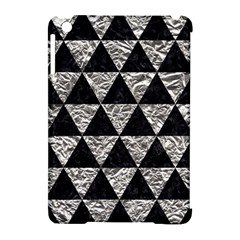 Triangle3 Black Marble & Silver Foil Apple Ipad Mini Hardshell Case (compatible With Smart Cover) by trendistuff