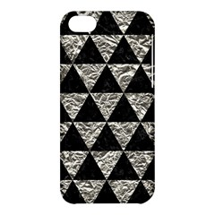 Triangle3 Black Marble & Silver Foil Apple Iphone 5c Hardshell Case by trendistuff