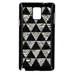 Triangle3 Black Marble & Silver Foil Samsung Galaxy Note 4 Case (black) by trendistuff
