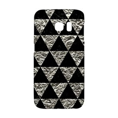 Triangle3 Black Marble & Silver Foil Galaxy S6 Edge by trendistuff