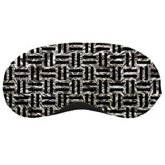 Woven1 Black Marble & Silver Foil Sleeping Masks by trendistuff