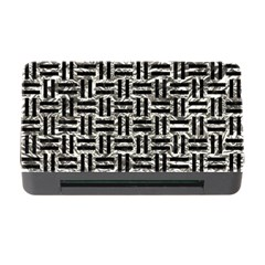 Woven1 Black Marble & Silver Foil Memory Card Reader With Cf by trendistuff