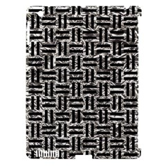 Woven1 Black Marble & Silver Foil Apple Ipad 3/4 Hardshell Case (compatible With Smart Cover) by trendistuff