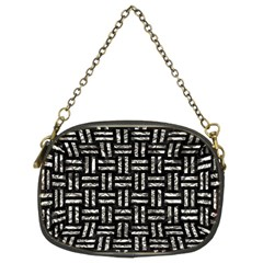 Woven1 Black Marble & Silver Foil (r) Chain Purses (two Sides)  by trendistuff