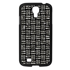 Woven1 Black Marble & Silver Foil (r) Samsung Galaxy S4 I9500/ I9505 Case (black) by trendistuff
