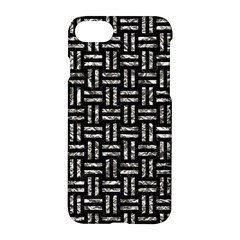 Woven1 Black Marble & Silver Foil (r) Apple Iphone 8 Hardshell Case by trendistuff