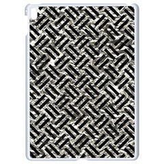 Woven2 Black Marble & Silver Foil Apple Ipad Pro 9 7   White Seamless Case by trendistuff