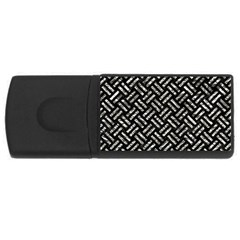 Woven2 Black Marble & Silver Foil (r) Rectangular Usb Flash Drive by trendistuff