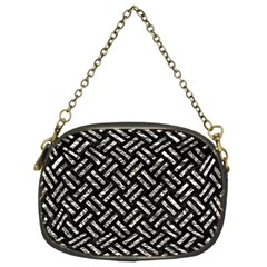 Woven2 Black Marble & Silver Foil (r) Chain Purses (two Sides)  by trendistuff