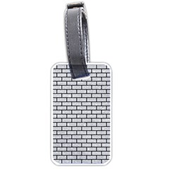 Brick1 Black Marble & Silver Glitter Luggage Tags (two Sides) by trendistuff