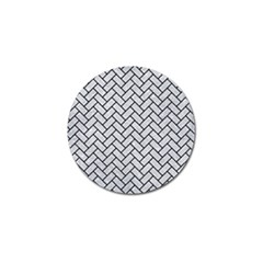 Brick2 Black Marble & Silver Glitter Golf Ball Marker (4 Pack) by trendistuff