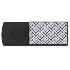 Brick2 Black Marble & Silver Glitter Rectangular Usb Flash Drive by trendistuff