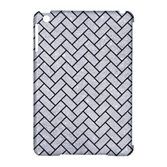 Brick2 Black Marble & Silver Glitter Apple Ipad Mini Hardshell Case (compatible With Smart Cover) by trendistuff