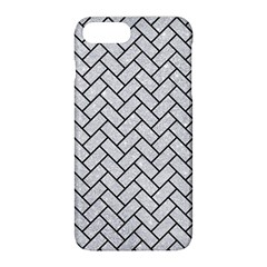 Brick2 Black Marble & Silver Glitter Apple Iphone 8 Plus Hardshell Case by trendistuff