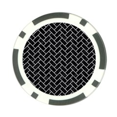 Brick2 Black Marble & Silver Glitter (r) Poker Chip Card Guard (10 Pack) by trendistuff