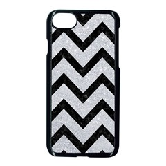 Chevron9 Black Marble & Silver Glitter Apple Iphone 7 Seamless Case (black) by trendistuff