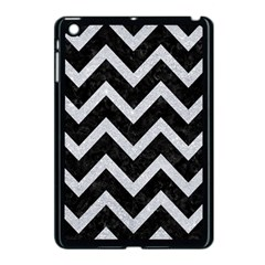 Chevron9 Black Marble & Silver Glitter (r) Apple Ipad Mini Case (black) by trendistuff
