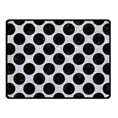 Circles2 Black Marble & Silver Glitter Fleece Blanket (small) by trendistuff