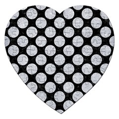 Circles2 Black Marble & Silver Glitter (r) Jigsaw Puzzle (heart) by trendistuff