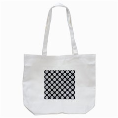Circles2 Black Marble & Silver Glitter (r) Tote Bag (white) by trendistuff