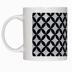 Circles3 Black Marble & Silver Glitter White Mugs by trendistuff