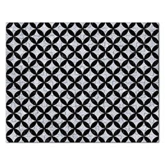 Circles3 Black Marble & Silver Glitter Rectangular Jigsaw Puzzl by trendistuff