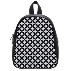 Circles3 Black Marble & Silver Glitter School Bag (small) by trendistuff