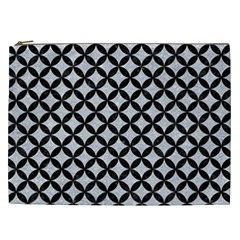 Circles3 Black Marble & Silver Glitter Cosmetic Bag (xxl)  by trendistuff