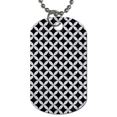 Circles3 Black Marble & Silver Glitter (r) Dog Tag (two Sides) by trendistuff
