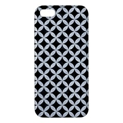 Circles3 Black Marble & Silver Glitter (r) Apple Iphone 5 Premium Hardshell Case by trendistuff
