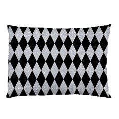 Diamond1 Black Marble & Silver Glitter Pillow Case by trendistuff