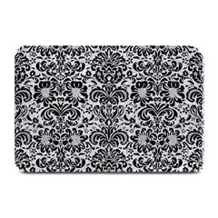 Damask2 Black Marble & Silver Glitter Plate Mats by trendistuff