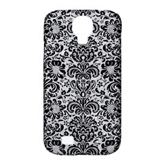 Damask2 Black Marble & Silver Glitter Samsung Galaxy S4 Classic Hardshell Case (pc+silicone) by trendistuff
