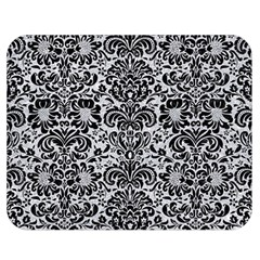 Damask2 Black Marble & Silver Glitter Double Sided Flano Blanket (medium)  by trendistuff