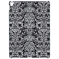 Damask2 Black Marble & Silver Glitter (r) Apple Ipad Pro 12 9   Hardshell Case