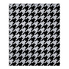 Houndstooth1 Black Marble & Silver Glitter Shower Curtain 60  X 72  (medium)  by trendistuff