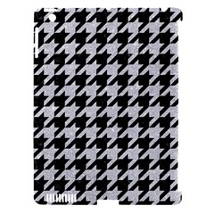 Houndstooth1 Black Marble & Silver Glitter Apple Ipad 3/4 Hardshell Case (compatible With Smart Cover) by trendistuff