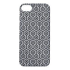 Hexagon1 Black Marble & Silver Glitter Apple Iphone 5s/ Se Hardshell Case by trendistuff