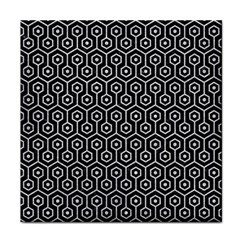 Hexagon1 Black Marble & Silver Glitter (r) Face Towel by trendistuff