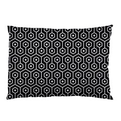 Hexagon1 Black Marble & Silver Glitter (r) Pillow Case (two Sides) by trendistuff