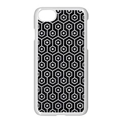 Hexagon1 Black Marble & Silver Glitter (r) Apple Iphone 8 Seamless Case (white) by trendistuff
