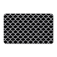 Scales1 Black Marble & Silver Glitter (r) Magnet (rectangular) by trendistuff